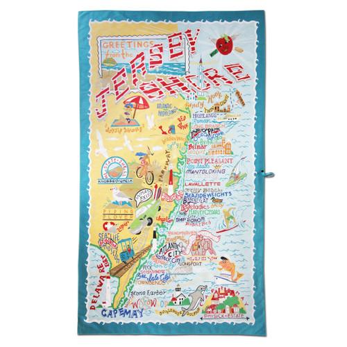 Catstudio Jersey Shore Beach & Travel Towel