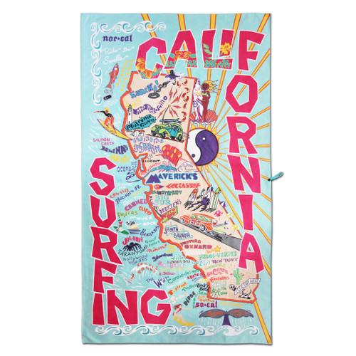 Catstudio California Surfing Beach & Travel Towel