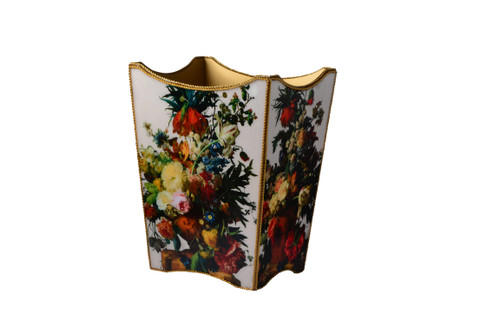 Mike & Ally Bouquet Scalloped Wastebasket
