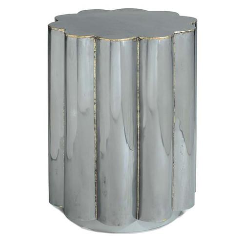 Regina Andrew Braised Scalloped Metal Table