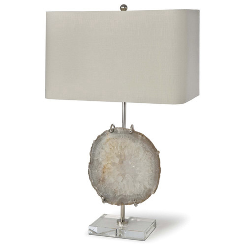 Regina Andrew Nickel & Agate Exhibit Lamp
