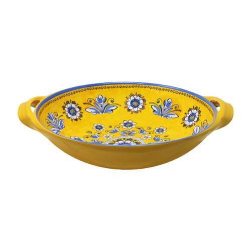 """Le Cadeaux Benidorm 13"""" Two Handled Bowl"""