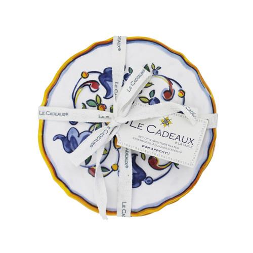 Le Cadeaux Capri Appetizer Plates