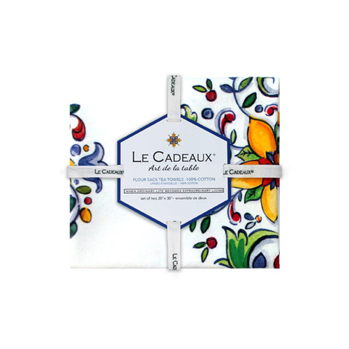 Le Cadeaux Capri Gift Set of 2 Tea Towels