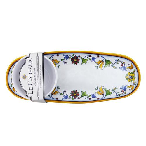 Le Cadeaux Capri Bowl and Tray Gift Set