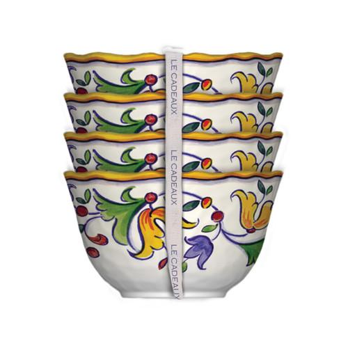 Le Cadeaux Capri Set of 4 Desert Bowls