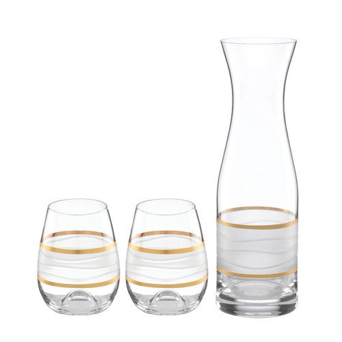 Michael Wainwright Ile De Re Carafe With 2 Stemless Wines