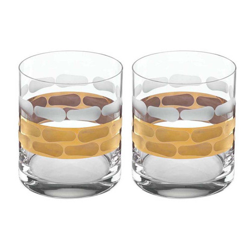 Michael Wainwright Truro Gold Double Old Fashioned - Set of 2