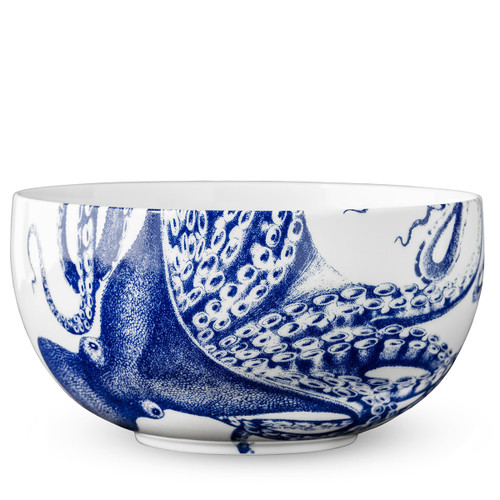 Caskata Blue Lucy Large Round Bowl