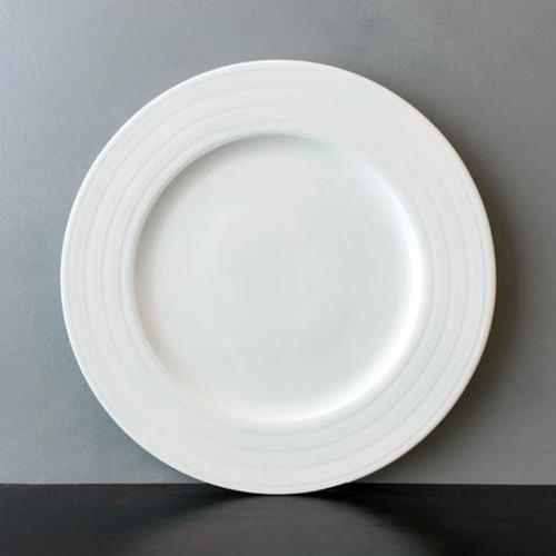 """Caskata Cambridge Stripe White 6.25"""" Canapes - Set of 4"""