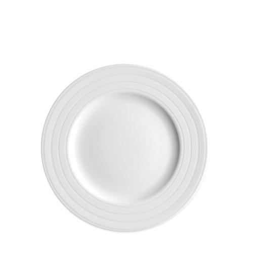 "Caskata Cambridge Stripe White 8"" Rimmed Salad"