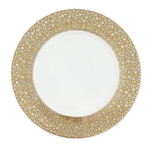 Caskata Ellington Shimmer Gold and Platinum 11.75 in Rimmed Charger