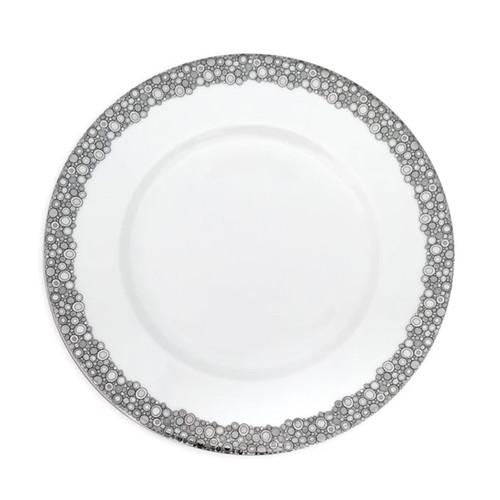 "Caskata Ellington Shine Platinum 10.75"" Rimmed Dinner"