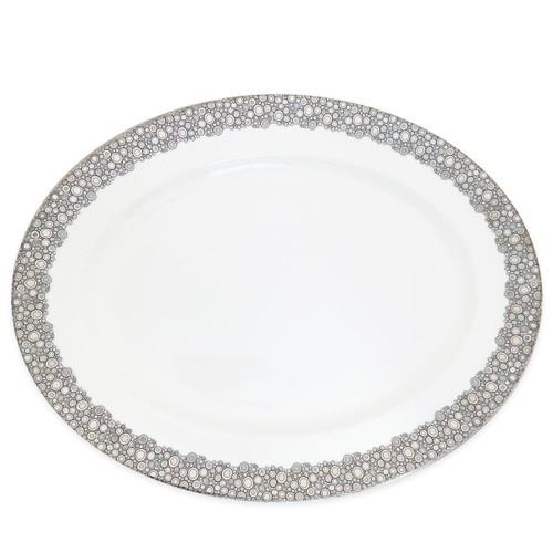 Caskata Ellington Shine Platinum Rimmed Oval Platter