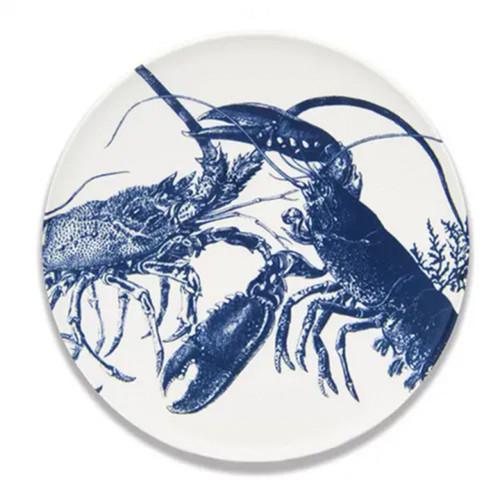 """Caskata Lobsters Blue 12.25"""" Coupe Platter"""