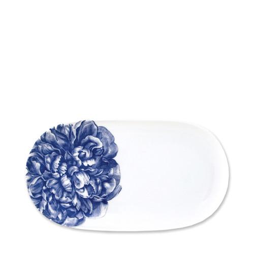 "Caskata Peony Blue 12"" Oval Platter"