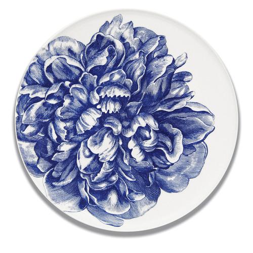 "Caskata Peony Blue 12.5"" Platter"