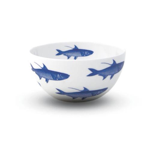 "Caskata School of Fish Blue 4"" Bowl"