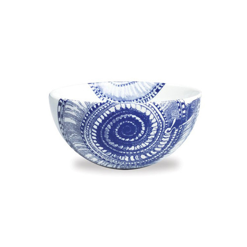 "Caskata Shells Blue 4"" Bowl"