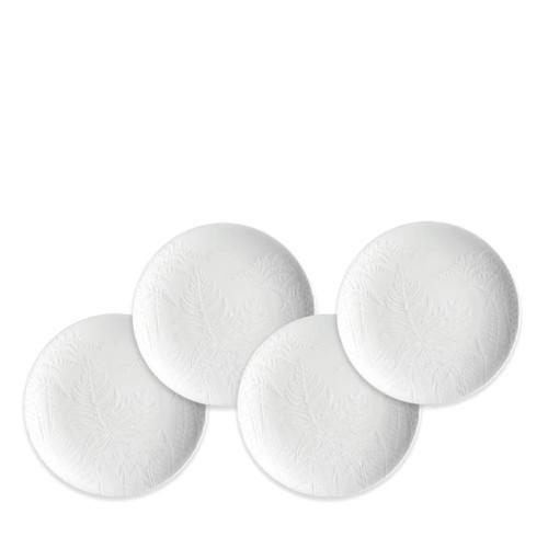 """Caskata Spring White 6.25"""" Canapes - Set of 4"""