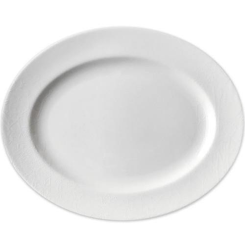 """Caskata Summer White 16"""" Rimmed Oval Platter"""