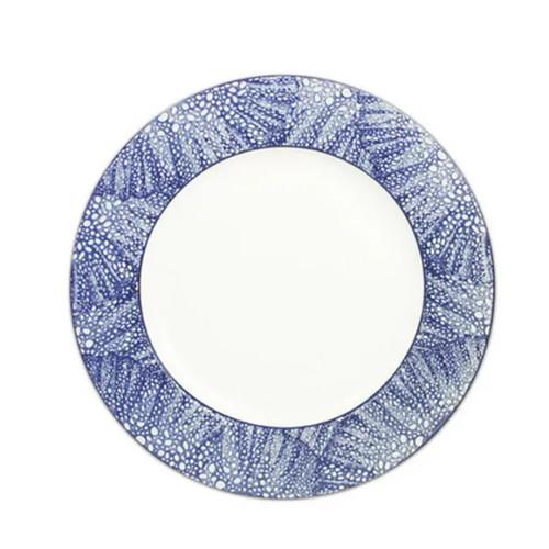 "Caskata Sea Fan Blue 10.75"" (Rimmed) Dinner Plate"