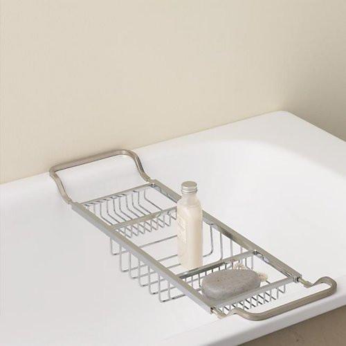 Valsan Essentials Contemporary Adjustable Bath Tub Rack
