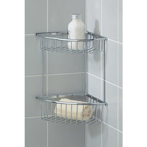 Valsan Essentials Medium Double Corner Soap Basket