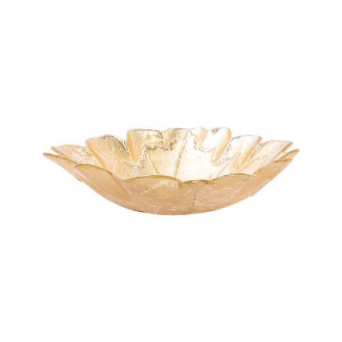 Vietri Moon Glass Leaf Bowl