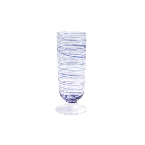 Vietri Swirl Champagne Glass