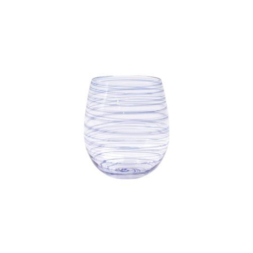 Vietri Swirl Stemless Wine Glass