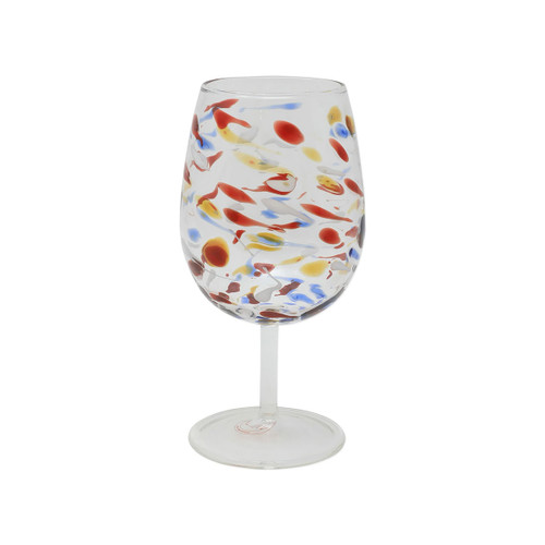 Vietri Carnevale Wine Glass