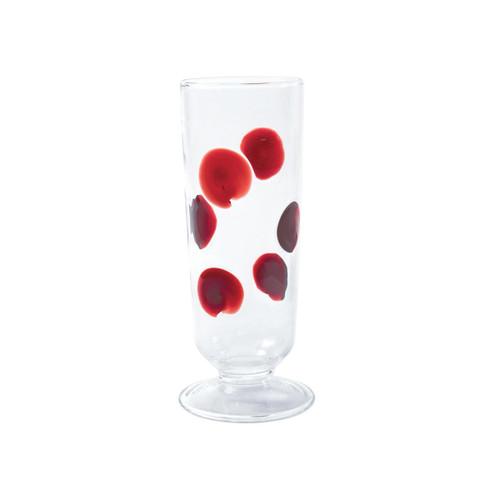 Vietri Drop Red Champagne Glass