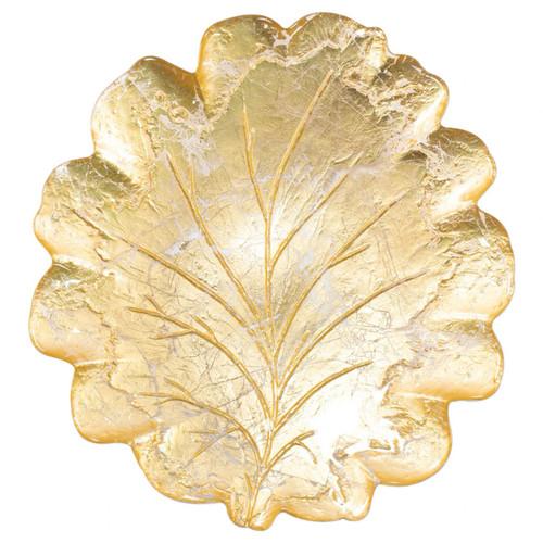Vietri Moon Glass Leaf Platter