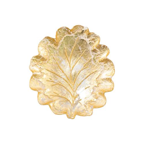 Vietri Moon Glass Leaf Salad Plate