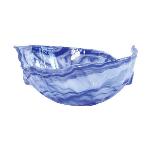 Vietri Onda Glass Cobalt Round Bowl