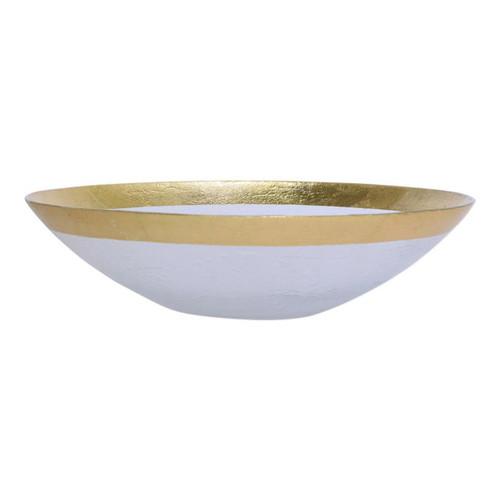 Vietri Rufolo Glass Gold Organic Large Bowl