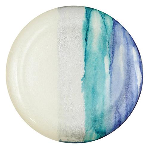 Vietri Sea Glass Ombre Round Platter