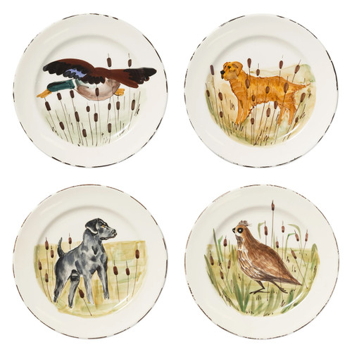 Vietri Wildlife Assorted Dinner Plates - Set of 4