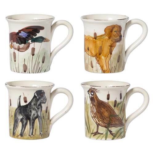 Vietri Wildlife Assorted Mugs - Set of 4