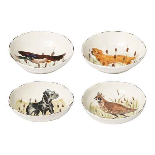 Vietri Wildlife Assorted Pasta Bowls - Set of 4