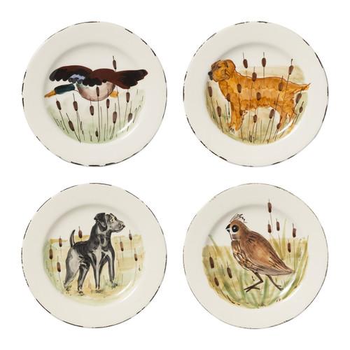 Vietri Wildlife Assorted Salad Plates - Set of 4