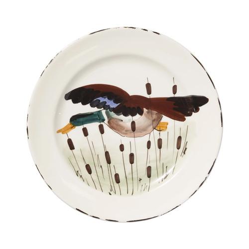 Vietri Wildlife Mallard Dinner Plate