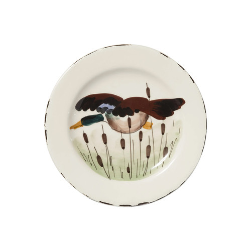 Vietri Wildlife Mallard Salad Plate