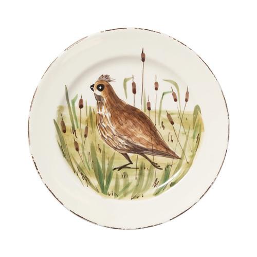 Vietri Wildlife Quail Dinner Plate