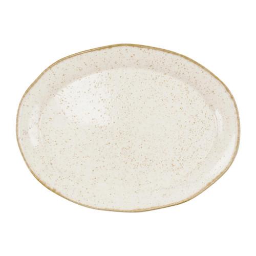 Viva by Vietri Earth Eggshell Oval Platter