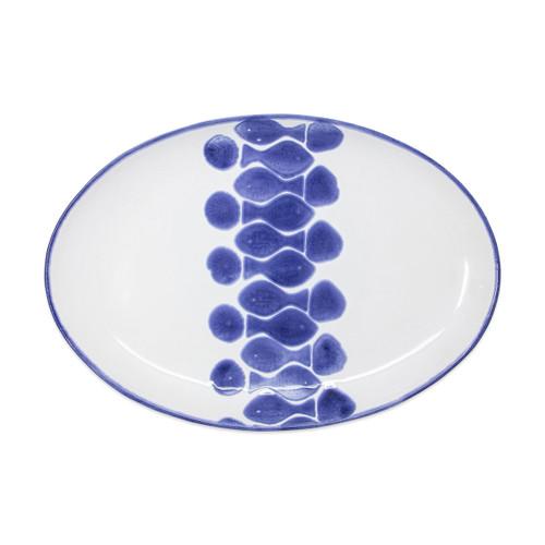 Viva by Vietri Santorini Fish Oval Platter