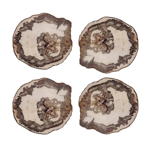 Kim Seybert Petrified Wood Coasters - Set of 4