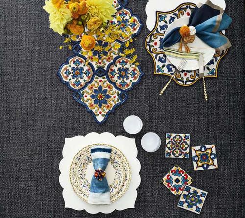 Kim Seybert Seville Coasters - Set of 4