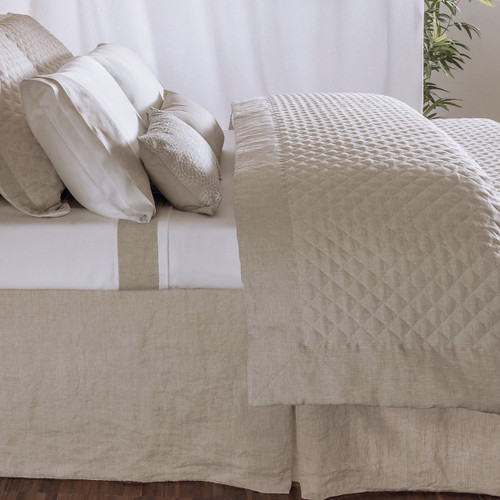 Bovi Hudson Linen Tailored & Lined Bed Skirt